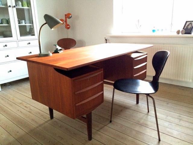Sidste nye Retro Furniture: Teak skrivebord DV-05