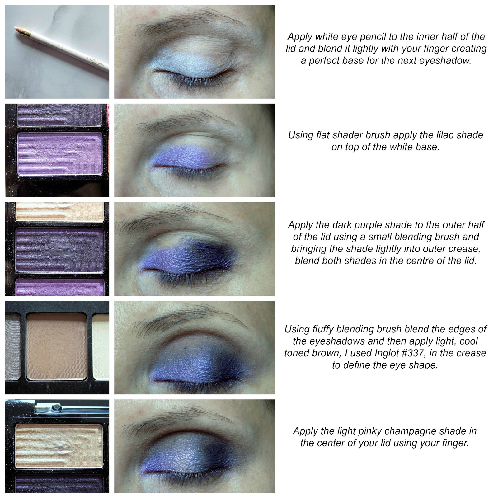 Purple eye makeup tutorial