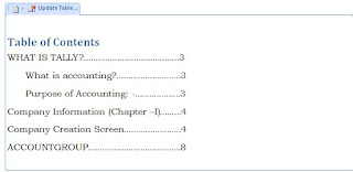 How to Create Table of Contents (Index) in Ms Word in Hindi