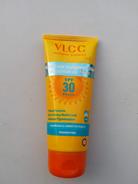 VLCC Matte Look Depigmentation Sun Screen Gel Creme Review SPF 30 PA+++ Review