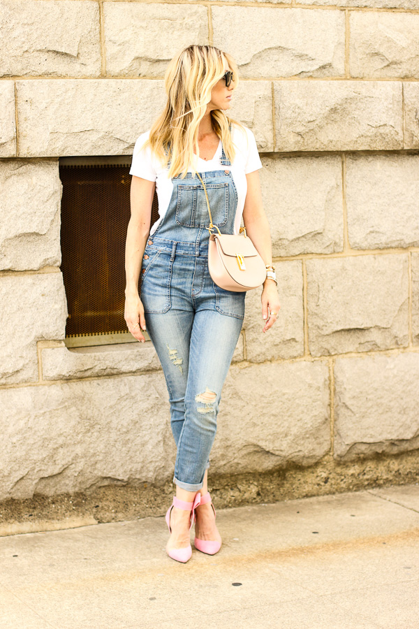 overalls heels parlor girl