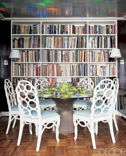 Elle Decor Bookshelves: Back On Festive Road: Bookcase Inspiration