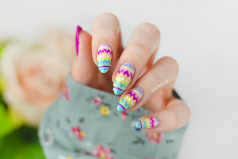 easter nails, pisanki na paznokciach, paznokcie na wielkanoc