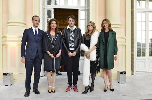 Princess Caroline, Charlotte Casiraghi and Princess Alexandra attended the event that Prada organized at Francesco Vezzoli