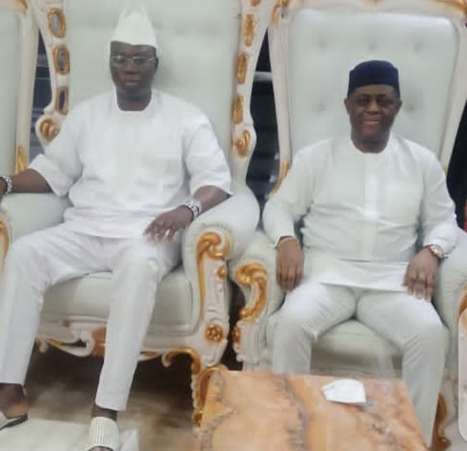 Photos from Femi Fani-Kayode and Gani Adams' meeting in Oyo State