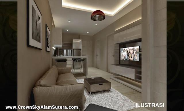 Design Interior Apartemen Crown Sky Alam Sutera