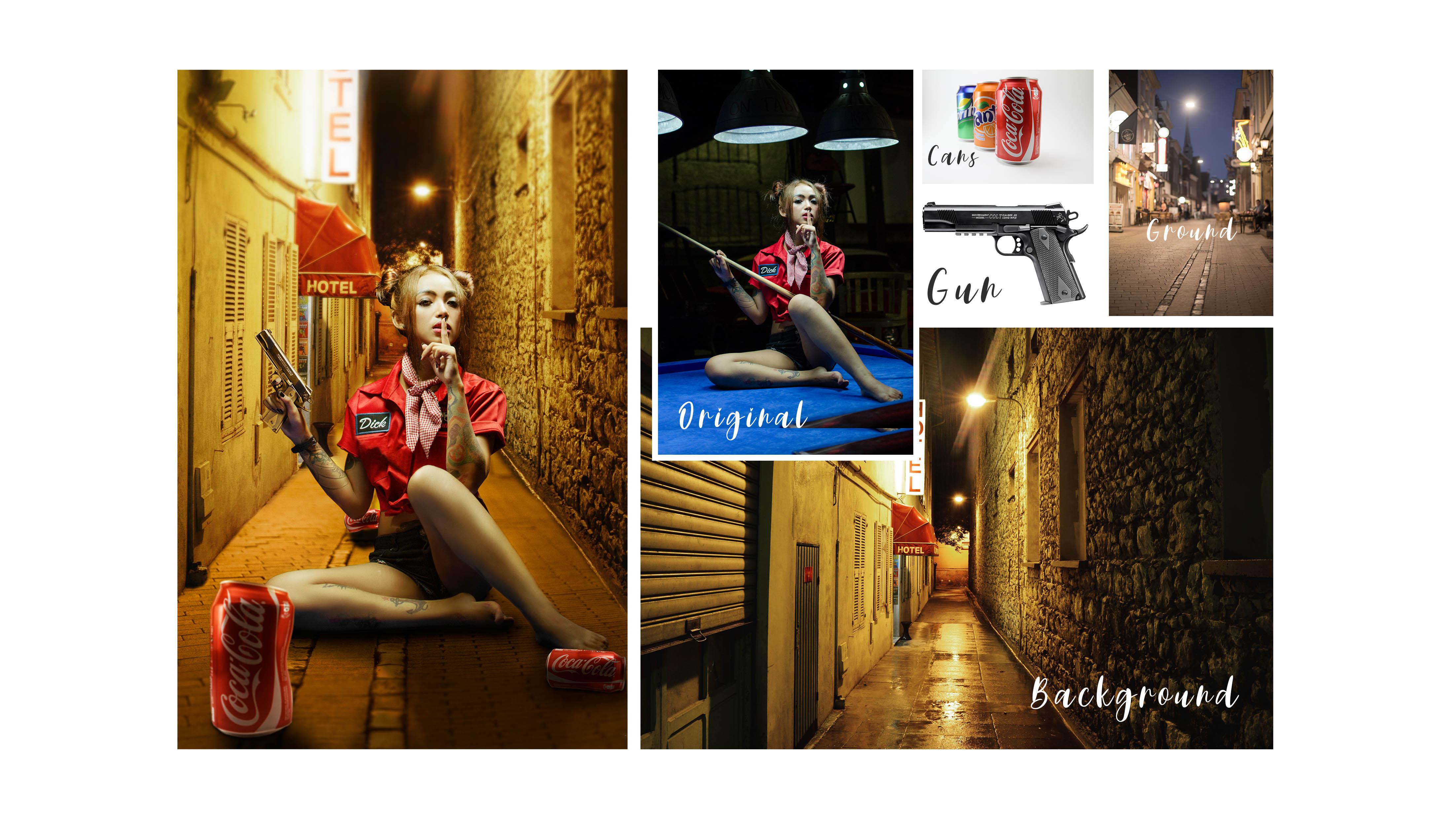 "Tutorial foto manipulasi ""ssst i'll shoot you"""