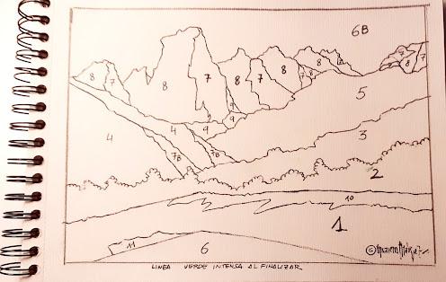 """<alt=""""Pintar paisaje paso a paso. Fase 1. Cómo pintar montañas""""/>"""