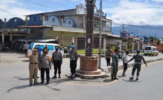 John Banua, Dominggus Rumaropen dan Arief Situmeang Pimpin Razia Kamtibmas di Wamena