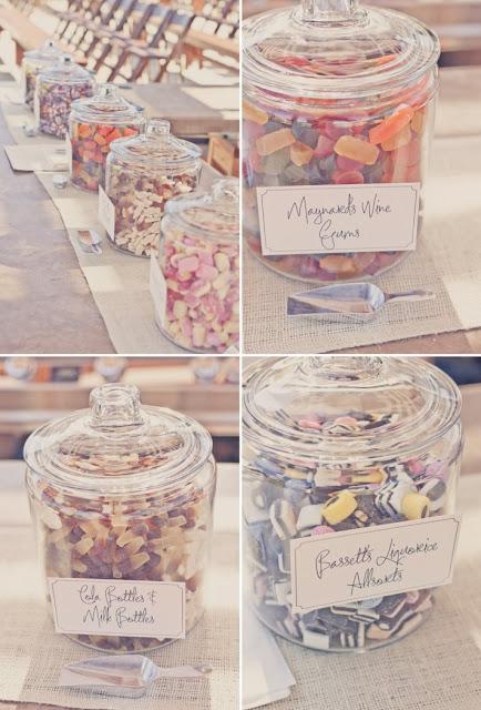 candy bar bonbonniere en verre