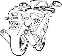 דפי צביעה אופנועים
