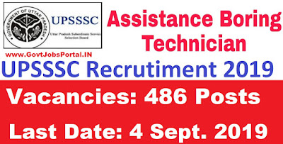 UPSSSC Boring Technician Vacancy 2019