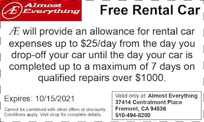 Coupon Free Rental Car September 2021