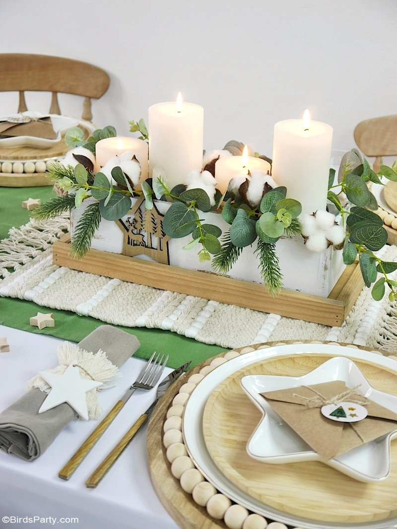 Table de Noël Nature avec Décoration DIY Faciles