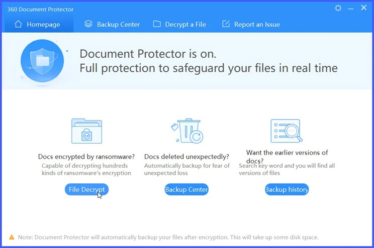 360 Document Protector :  O  Εξολοθρευτής των ransomware