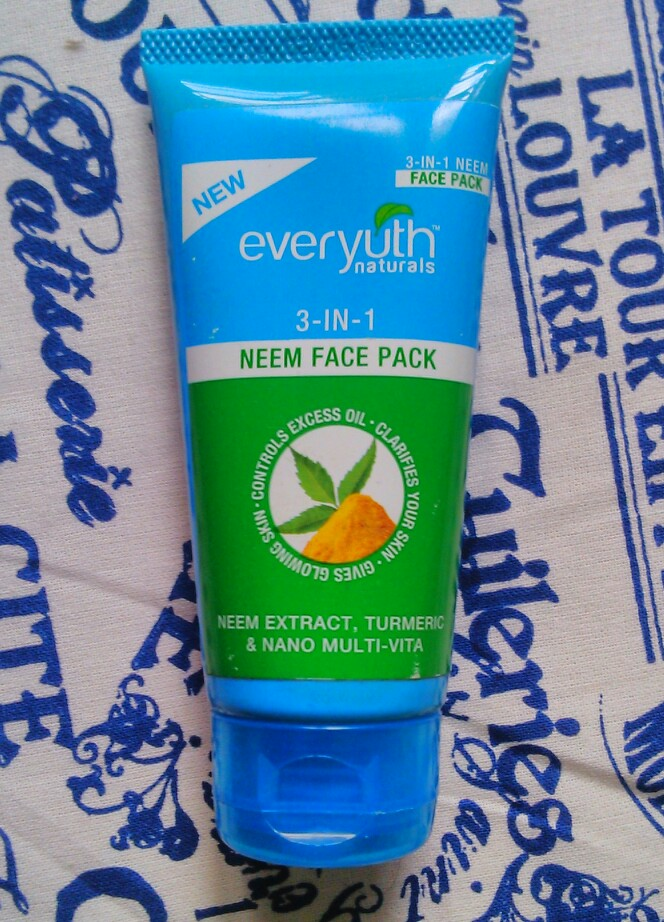Everyuth Naturals 3-in-1 Neem face pack Review