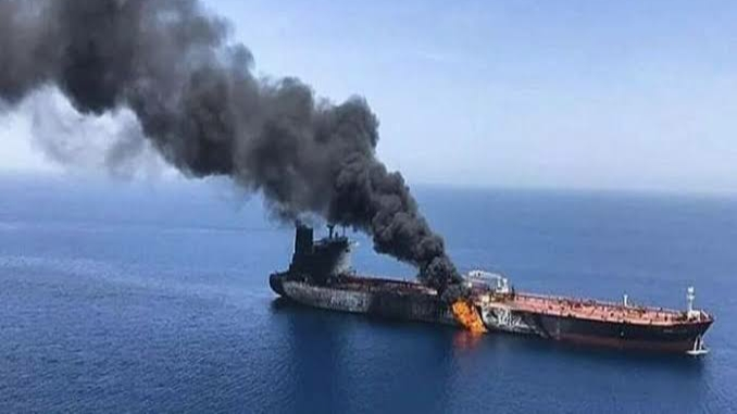 Missile attack on an Israeli ship today
