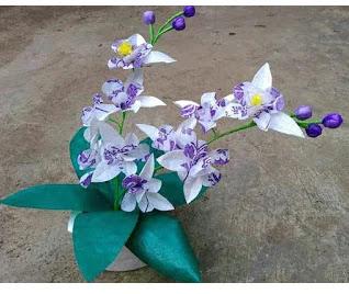 Bunga Anggrek Dari Plastik Kresek