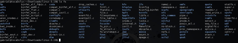 Filesystem no kernel Linux.