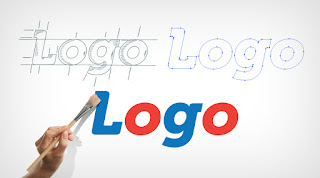 The word Logo in different font styles and colours being tried out for Logo Rebranding.