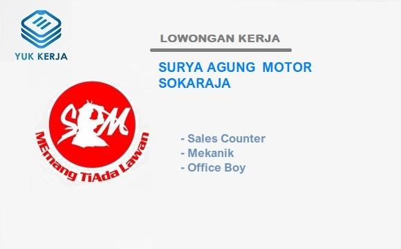 Loker Purwokerto Dealer Honda Surya Agung Motor Sokaraja Februari 2021