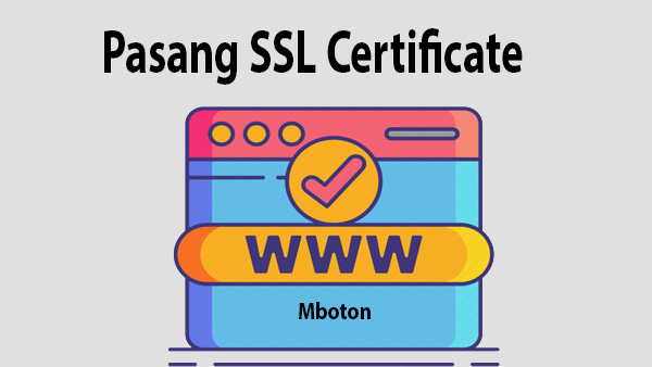Pasang SSL Certificate