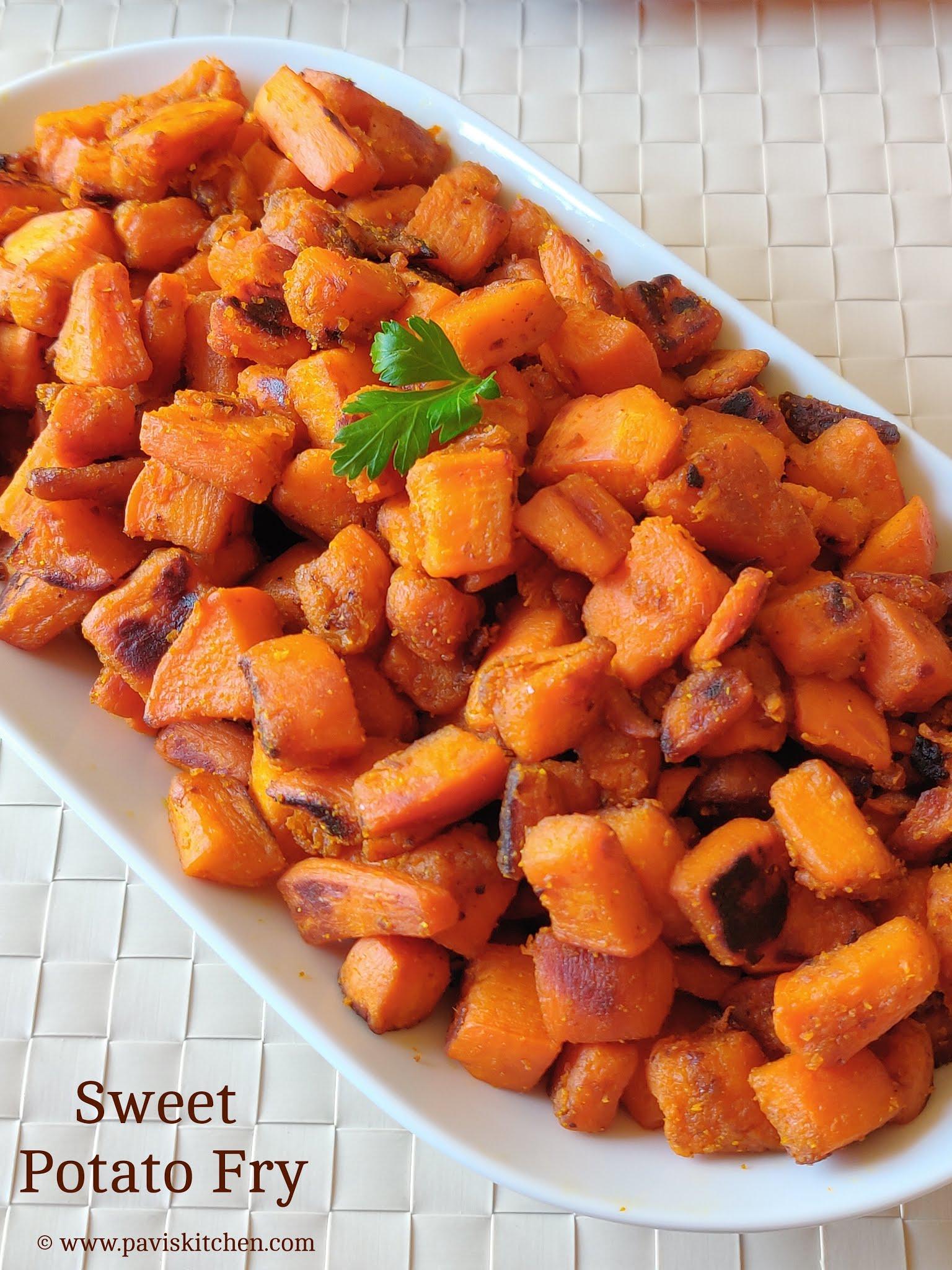 Sweet potato fry Indian | Sweet potato curry | Sakkaravalli kizhangu varuval / Poriyal recipe