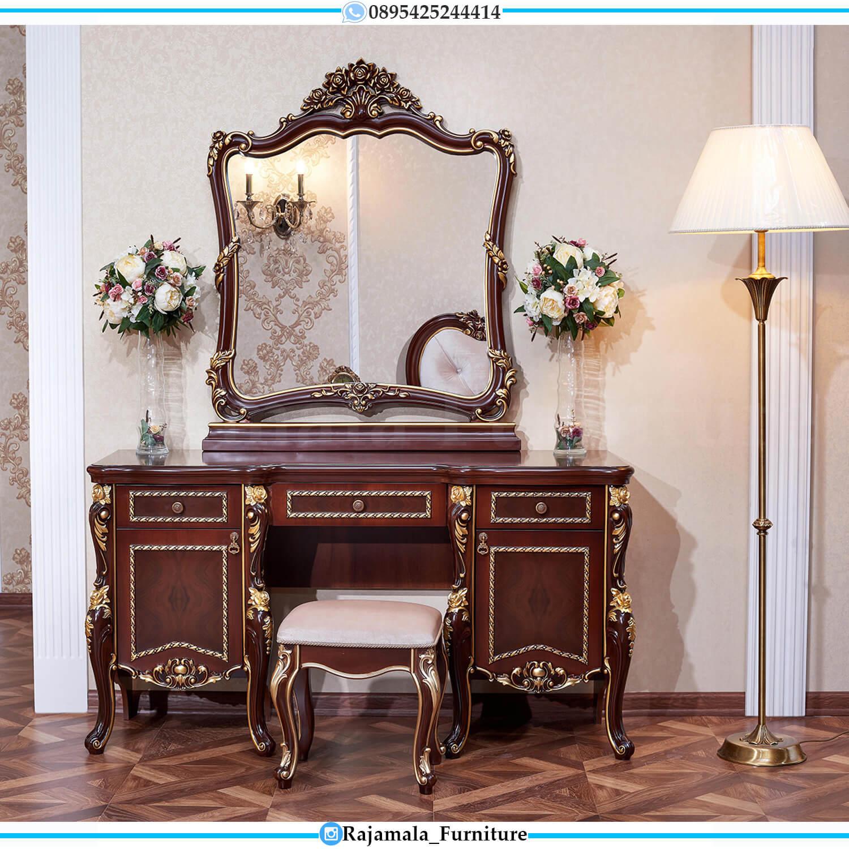New Meja Rias Mewah Ukir Jepara Luxury Beauty Vanity Room Design RM-0484