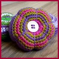 Flor botón a crochet