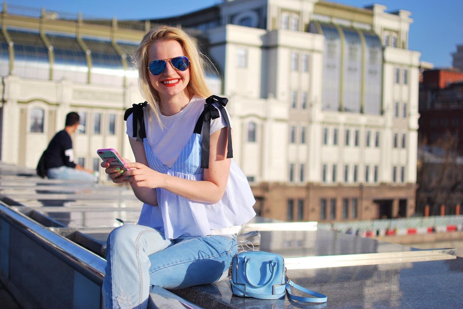 джинсы два цвета, модные блоггеры,аутфит, модный тенденция, модный лук, луки весна