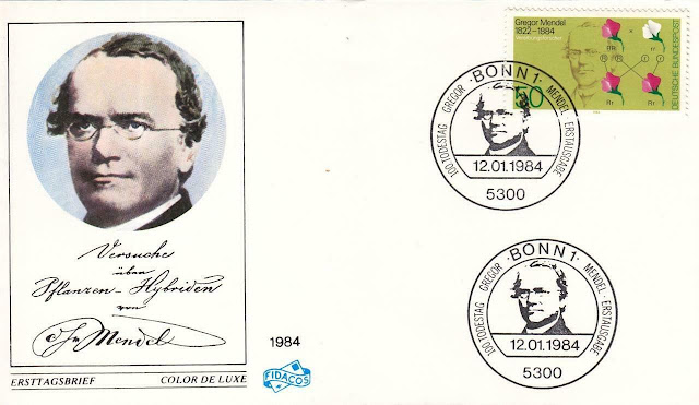 Germany Gregor Mendel, Basic Laws of Heredity First Day Cover
