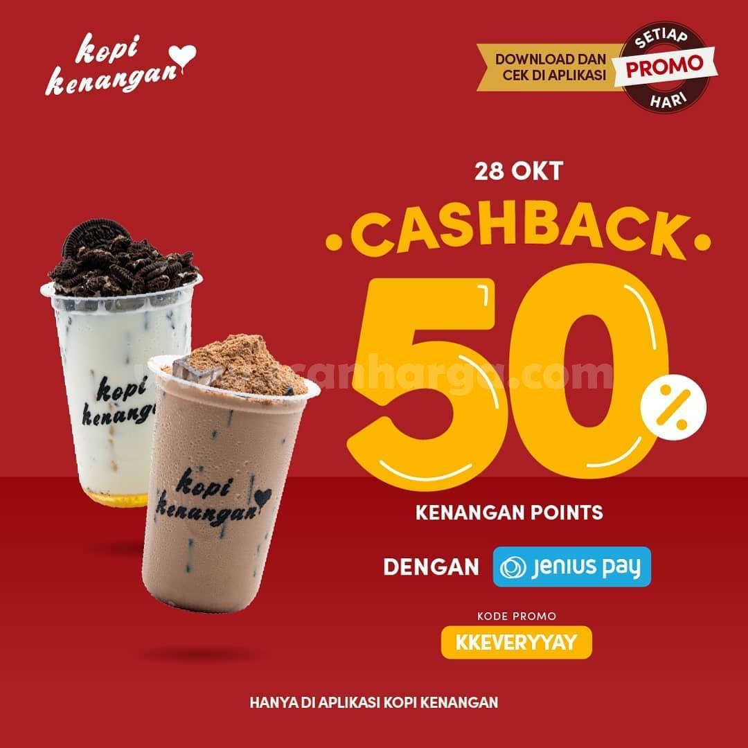 Kopi Kenangan Promo Cashback 50% dengan Gopay