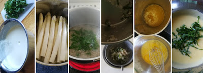 Zubereitung Bärlauch-Pfannkuchen mit Spargel, Schinken und Bärlauch Hollandaise