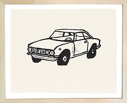 Hugo Guinness Linocuts Car