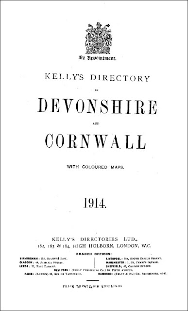 Kelly's Directory of Devon & Cornwall - Part 2. Devon: Private Resident & Trade Directories
