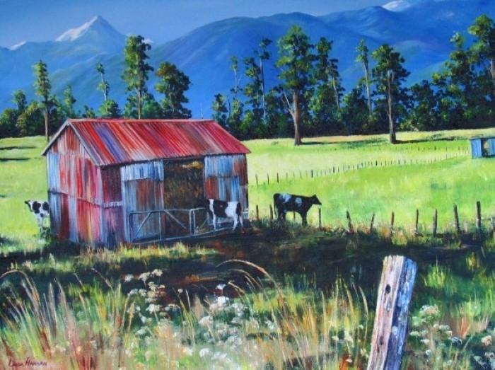 Новозеландский художник-самоучка. Linda Hannan