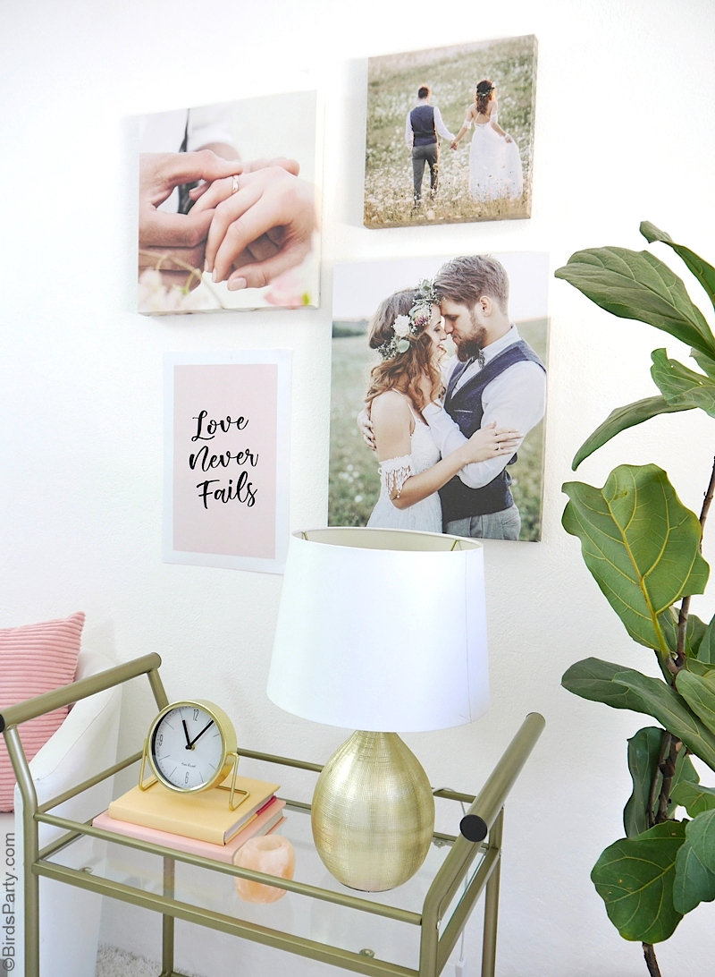DIY Wedding Wall Gallery with FREE Printable Poster