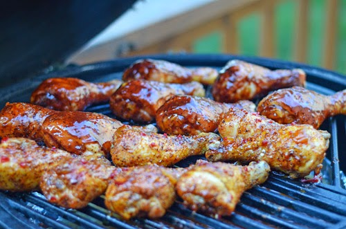 kamado grilled chicken legs