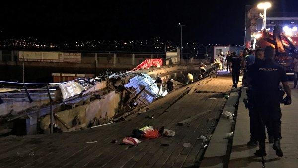 Más de 300 heridos tras desplomarse un muelle durante concierto en España