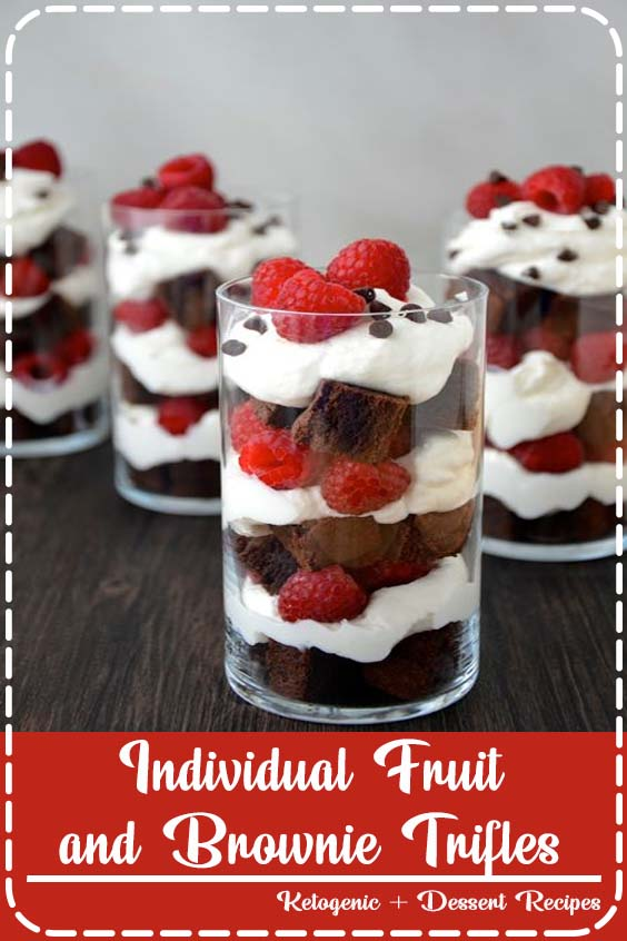 Individual Fruit and Brownie Trifles