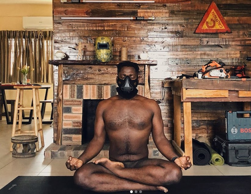 Obi Somto, Nigerian photographer proudly shares photos of himself doing yoga naked
