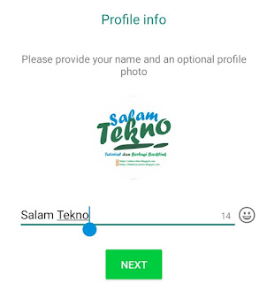 provide your name and profile photo