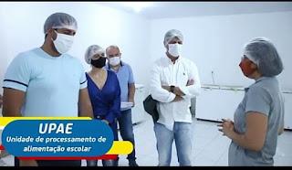 O prefeito em exercício de Guarabira Marcelo Bandeira, visitou a UPAE, onde conheceu todo o trabalho de produção alimentar da unidade.