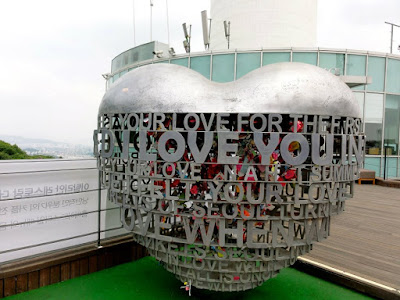 Namsan Seoul Tower Padlocks Love area
