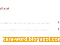 Cara Membuat Daftar Isi di Word Otomatis