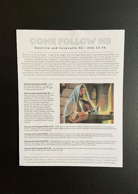Come Follow Me printable Aug 23