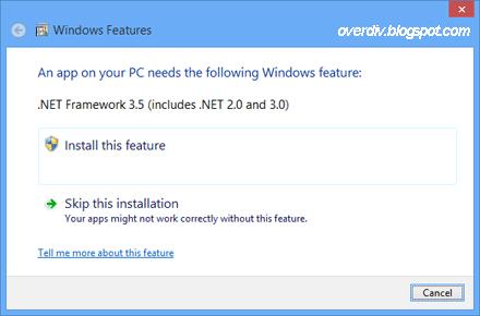 cara install net framework 3.5 windows 8.1 en ligne