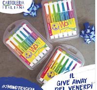 Logo Cartoleria Italiana: vinci gratis kit Evidenziatori Swing Cool Stabilo