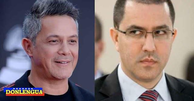 Alejandro Sanz le dio hasta con el tobo a la revolución cubana y Jorge Arreaza se picó