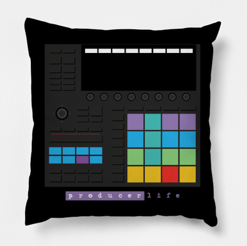 Dope Beat Machine Series #10 (w/Multi-Colored Pads) Pillow